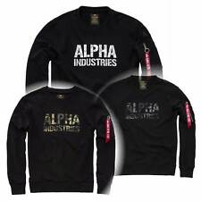 Alpha Industries Camo - Print Sweater Crew Neck Sweatshirt  Baumwollmischung neu