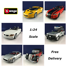 Bburago 1:24 Scale Diecast Model Car Selection Brand New Free Delivery
