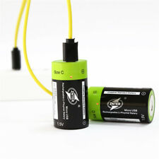 2Pcs Universal C Size 1.5V 3000mAh Rechargeable Battery Micro USB Charging
