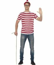 Mens Licensed Wheres Wally Fancy Dress Kit Where's Wally Set by Smiffys New