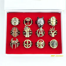 Marvel Superhero Series Finger Ring Metal Hollow Cosplay Jewelry For Fans Gift