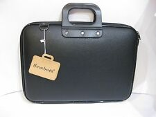 "BOMBATA ALL BLACK : BORSA PORTA PC/DOCUMENTI 13""-15""-17"" CON TRACOLLA"