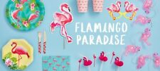 Flamingo Pink Girls Birthday party plates napkins tableware Cups decorations