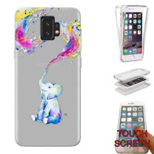 C0816 Elephant Spray Paint Gel Case Full 360° Cover For Samsung Series A6 A8 +