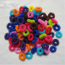 20x Womens Girls Elastic Hair Ties Band Rope Ponytail Phone Wire Hair BandRASK