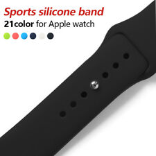 Colorful Soft Silicone Sport Band For 38mm Apple Watch Series3 2 42mm Wrist
