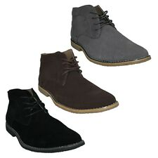 A3069 MALVERN MENS LACE UP ROUND TOE LEATHER/SUEDE DESERT ANKLE BOOTS SIZES