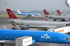Wall Decal entitled Airplanes at Schiphol Airport in Amsterdam, Netherlands