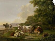 Wall Decal entitled Landscape with Cattle, 1806, Dutch painting, oil on panel