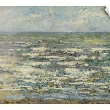 Wall Decal entitled The Sea near Katwijk,1887, Dutch painting, oil on canvas
