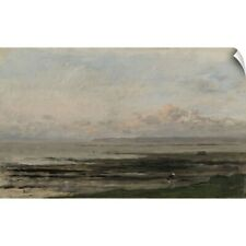 Wall Decal entitled Beach at Ebb Tide, c. 1850-78, Dutch painting, oil on panel