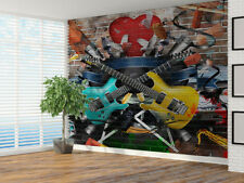 collage of Music Papel Pintado Foto Mural pared (38916455) Guitarras