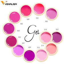 UV Led Lamp Gel Soak Off Lacquer Nails Varnish Paints Pink Jelly Polish Nail Art
