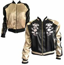Womens Brave Soul Reversible Metallic Jacket Ladies Party Wear Bomber Jacket
