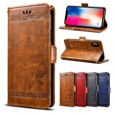 Magnetic Flip PU Leather Case Card Wallet Cover Stand For Xiaomi Redmi Phones B