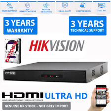 HiWatch By Hikvision 4/8 Channel DVR CCTV Video Recorder HDMI P2P Security 1080P
