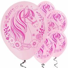 """Pink Magical Unicorn Fairy Tale Balloons - 11"""" Wedding kids Birthday party"""