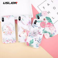 Cartoon Rabbit Case 3D Relief Flower Soft TPU Mobile Cover For iPhone 8 Plus