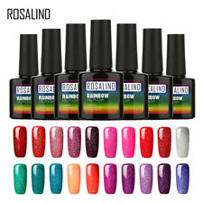 Manicura Rainbow Color Brillo Gel UV Led Semipermanente Uñas Pintura Esmalte de