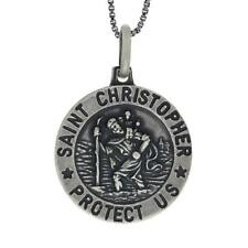 Antica Finire Sterling Color Argento St.Christopher Pendente/Pendente,45.7cm