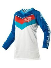 Maglia motocross Donna Troy Lee Designs 2014 GP Air Airway Bianco-Blu