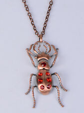 Bronze Alloy Chain Multicolored Crystal Scorpion Necklace Pendant Gothic Jewelry