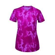 Camo Womens Performance Lightweight Gym Fitness Workout T Shirt Top 8 Colours