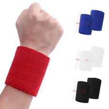 Wrist Bands Sweatbands Unisex Cotton for Sports/ Gym/ Tennis/ Running/ Cycling