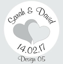 Personalised Round Wedding Eternity Favour Envelope Seal Labels