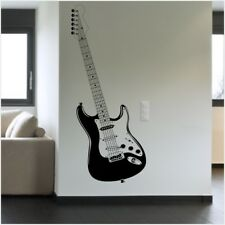 STRATOCASTER GUITAR wall sticker bedroom living room music wall decal