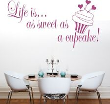 CUPCAKE wall art stickers food home kitchen cafe cakes cup decal vinyl sticker