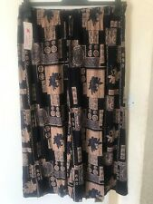 NEW LADIES FLORAL PRINT CULOTTES WOMENS FLARED CROP TROUSERS 3/4 PANTS SZ 12-20