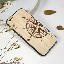 Laser Engraving Covers Mobile Cover Wood Pattern Case For iPhone 6 6S 7 8 Plus