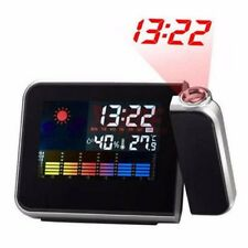 LCD Digital Projection Alarm Clock With Weather Nixie Electronic Desk Clock