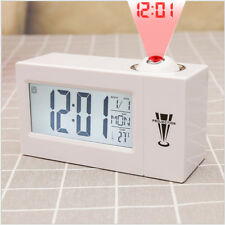 LED Digital Projection Alarm Clock Talking Nixie Electronic Desk Clock With