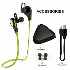 In Ear Wireless Stereo Bluetooth CSR 4.1 Headset Sport Headphones w/ MIC
