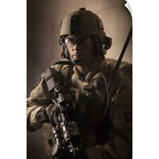 Wall Decal entitled U.S. Air Force CSAR parajumper armed with an automatic rifle