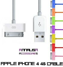 CAVO USB PER APPLE IPHONE 4 4S 4G 3G 3GS IPAD IPOD CAVETTO CARICA SYNC USB CABLE