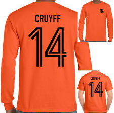 Johan Cruyff 14 Hombre Retro Holland Futbolista Camiseta Dutch Yohan Ajax Top