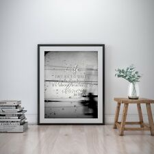 Life Storm Inspirational Wall Art Print Motivational Quote Poster Decor Gift for