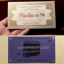 Harry Potter Hogwarts London Express Replica Train Ticket and Knight Bus Ticket