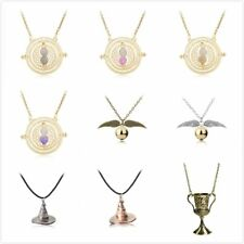 Movie Harri Potter Action Figures Necklace Hermione Golden Snitch Wand
