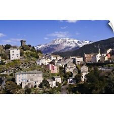 Wall Decal entitled Nonza village (Corsica, France) with its famous tower in the