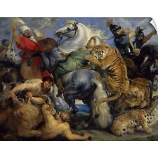 Wall Decal entitled The Tiger Hunt, 1616, By Peter Paul Rubens, Flemish, oil on