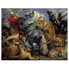 Poster Print Wall Art entitled The Tiger Hunt, 1616, By Peter Paul Rubens,