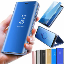 Case for Samsung GalaxyS9 S8 S7 Smart View Mirror Wallet LeatherFlip Stand Cover