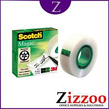 5 X MAGIC INVISIBLE TAPE ROLLS SCOTCH OR WIZARD 19MM X 33MM + FAST SHIPPING