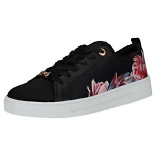 Ted Baker Ahfira 2 Womens Black Floral Textile & Leather Trainers