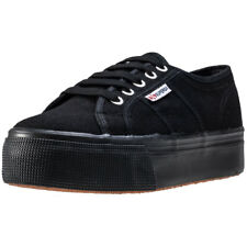 Superga 2790 Linea Up And Down Womens Black Black Canvas Trainers