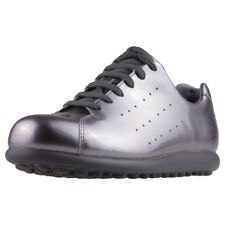 Camper Pelotas X Lite Womens Silver Patent leather Trainers
